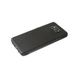 Чехол для Samsung Galaxy A52 цветной карбон, силиконовый борт, черная