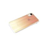 Чехол для Samsung Galaxy A32 4G кошачий глаз, золотая окантовка, силиконовый борт, желто-розовая