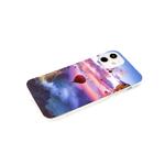 Чехол для Samsung Galaxy A52 красочный винил, прозрачный борт, цветное небо