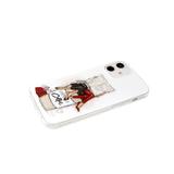 Чехол для Iphone 11 красочный винил, прозрачный борт, девушки с газетой