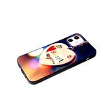 Чехол для Xiaomi Redmi 9a матово - глянцевый рисунок, черный борт, heart