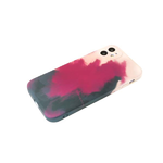 Силиконовый чехол Samsung Galaxy A51 матовый, размытые краски, бордово-черный