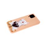 Силиконовый чехол Xiaomi Redmi 9T матовый с глянцевым рисунком, белый кот