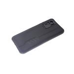 Силиконовый чехол Xiaomi Redmi Note 10 под кожу с прострочкой, 6d камера, черный борт, черный