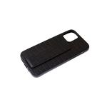 Силиконовый чехол Xiaomi Redmi 9 под реплилию, магнитная подставка-держатель, черный