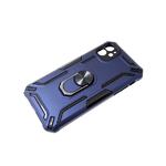 Чехол для Huawei Honor 9a противоударная с кольцом, черные вставки, защита камеры, синяя