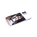 Чехол для Samsung Galaxy A12 прозрачный, серия с картинками, девушка с кошкой