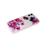 Чехол для Huawei Y5 2018 розовая окантовка, цветы с бабочками