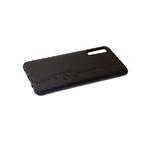 Силиконовый чехол Huawei Honor 9a с имитацией тканевой поверхности, со строчкой, черный