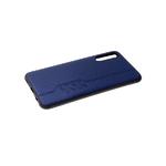 Силиконовый чехол Huawei Honor 9a с имитацией тканевой поверхности, со строчкой, темно-синий