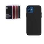 Силиконовый чехол Samsung Galaxy A72 Silicon Cover без логотипа, закрытый низ, в блистере, черный