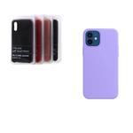 Силиконовый чехол Samsung Galaxy A02s Silicon cover stilky and soft-touch, без логотипа, сиреневый