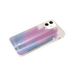 Чехол для Samsung Galaxy A12 силиконовый борт, кошачий глаз CLASSIC CASE, фиолетовая