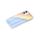 Чехол для Samsung Galaxy A12 силиконовый борт, кошачий глаз CLASSIC CASE, голубо-желтая