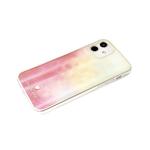 Чехол для Samsung Galaxy A12 силиконовый борт, кошачий глаз CLASSIC CASE, розово-желтая