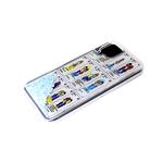 Чехол для Huawei Honor 7A силиконовый борт, жидкие блестки внутри, с рисунком,