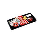 Чехол для Xiaomi Redmi 9c стеклянная с ярким рисунком, черный борт, девушка блондинка