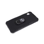 Чехол для Samsung Galaxy A52 трансформер, матовый, soft-touch, антишок углы, с кольцом, черная