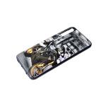 Чехол для Xiaomi Redmi 9a яркий принт, черный борт, черно-золотой мотоцикл