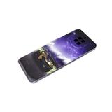 Чехол для Iphone 11 яркий принт с силиконовым бортом, фиолетовое небо