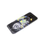Чехол для Samsung Galaxy A52 яркий принт с силиконовым бортом, наушники
