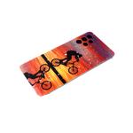 Чехол для Xiaomi Redmi 9 яркий рисунок с фольгой, силиконовый борт, велосипед