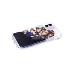 Чехол для Samsung Galaxy A51 жидкие блестки, лев с девушкой