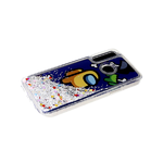 Чехол для Huawei Honor 10i жидкие блестки поверх рисунка, прозрачный борт, AMONG US