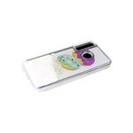 Чехол для Huawei Honor 10i жидкие блестки поверх рисунка, прозрачный борт, пончики
