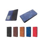 Чехол-книга Jasper J-02 с визитницей Samsung Galaxy A12 с сил. основанием и магнитом, синий