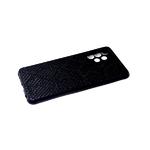 Силиконовый чехол Xiaomi Redmi Note 8T черный борт, поверхность из тактильной кожи, черный