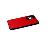 Силиконовый чехол Xiaomi Redmi Note 8T черный борт, поверхность из тактильной кожи, красный
