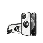 Чехол для Samsung Galaxy A12 прозр., сил. борт и антишок углы, двойное кольцо, черная