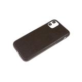 Силиконовый чехол Huawei Honor 8X эко кожа, черный борт, черный