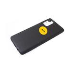 Силиконовый чехол Xiaomi Redmi Note 10 Pro эко-кожа с логотипом, черный