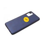 Силиконовый чехол Xiaomi Redmi Note 10 Pro эко-кожа с логотипом, синий