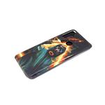 Чехол для Iphone 11 красочный винил, прозрачно-силиконовый борт, человек Х в противогазе
