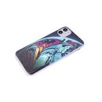 Чехол для Realme C20 красочный винил, прозрачно-силиконовый борт, разноцветная планета