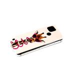 Чехол для Samsung Galaxy A10 красочный винил, прозрачно-силиконовый борт, жираф