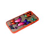 Чехол для Xiaomi Redmi Note 10 матово-прозр., защита камеры, цветные кнопки, яркие бабочки