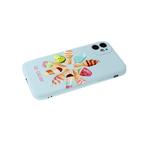 Силиконовый чехол Xiaomi POCO X3 матовый с глянцевым рисунком, защита кам., мороженое