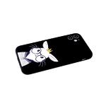Силиконовый чехол Xiaomi POCO X3 матовый с глянцевым рисунком, защита кам., зайка в очках