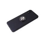 Силиконовый чехол Iphone 11 матовый с кольцом, защита камеры, черный