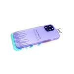 Силиконовый чехол Iphone 12 Pro (6.1) Matte TPU, ультратонкий, с металлической кнопкой, сиреневый