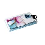 Силиконовый чехол MONARCH LUSID SERIES Iphone 12 (6.1) прозр. с мраморными разводами, мятный