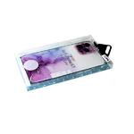 Силиконовый чехол MONARCH LUSID SERIES Iphone 12 (6.1) прозр. с мраморными разводами, розовый