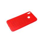 Силиконовый чехол Huawei Honor 10i плетенка крупная, красный