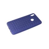 Силиконовый чехол Huawei Honor 8X плетенка крупная, синий