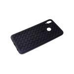 Силиконовый чехол Xiaomi Redmi Note 10 Pro плетенка под кожу, черный борт, черный
