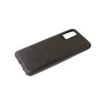 Силиконовый чехол Iphone 12 (6.1) под кожу, 6D camera, черный